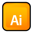 Cs, illustrator, adobe Orange icon