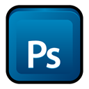 Ps, adobe, photoshop, Cs DarkCyan icon
