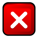 window, cancel, no, Close, program, stop Red icon