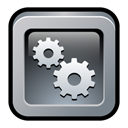 Setting, engine, yahoo, option, config, Configure, widget, configuration, preference Black icon