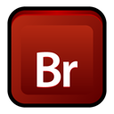 adobe, bridge, Cs Maroon icon