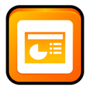 microsoft, powerpoint, office, ppt Orange icon