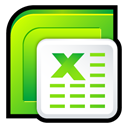 Excel, office, microsoft Black icon