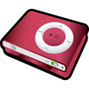 shuffle, red, ipod Black icon