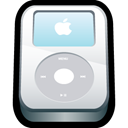 Apple, ipod, White, video LightGray icon