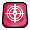 Mcafee, scan IndianRed icon