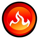 Smart, start, nero, fire, Burning Black icon