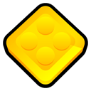 Toy, Designer, Lego, digital Gold icon