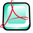 adobe, Acrobat, distiller Black icon