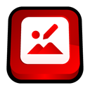 photo, picture, pic, office, image, microsoft, manager Red icon