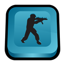 scene, Counter, Strike, deleted, Counter strike SteelBlue icon
