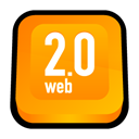 Web 2.0, web Orange icon