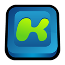Desktop, media, kazaa Black icon