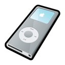 silver, ipod, nano Black icon
