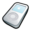 ipod, video, White Black icon
