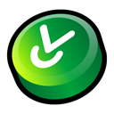 download, fall, Descend, Down, descending, Decrease ForestGreen icon