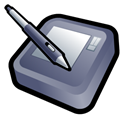 Intuos, wacom Black icon