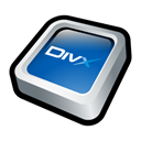 Divx, player Black icon