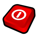 turn, off, window Red icon