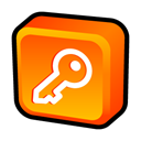 Log, off, window DarkOrange icon