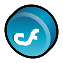 Coldfusion, macromedia Black icon