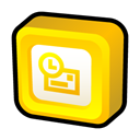 microsoft, office, outlook Gold icon