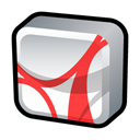 reader, adobe, Acrobat Black icon