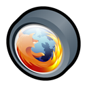 Browser, Firefox, mozilla Black icon