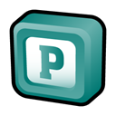 microsoft, office, publisher CadetBlue icon