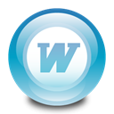 microsoft, word SkyBlue icon