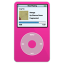 video, pink, ipod Black icon