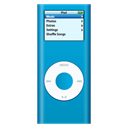 ipod, nano, Blue Black icon