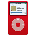 red, ipod, video Black icon