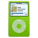 ipod, video, green Black icon