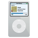 silver, ipod, video Black icon