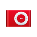 ipod, shuffle, red Black icon