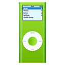 green, ipod, nano Black icon