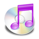 violet, itunes Black icon