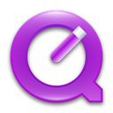 violet, quicktime DimGray icon