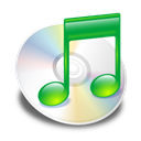 itunes, green Black icon