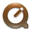 quicktime, Brown DimGray icon