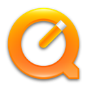 quicktime, Orange DimGray icon