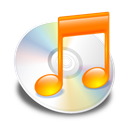 itunes, Orange Black icon