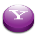 yahoo, messsenger Black icon