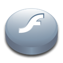 Flash, macromedia, player Black icon