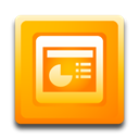 microsoft, powerpoint, ppt Orange icon