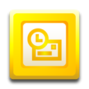 microsoft, outlook Gold icon