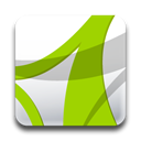 Acrobat, adobe YellowGreen icon