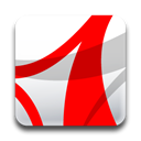 adobe, Acrobat, reader Red icon
