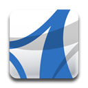 Acrobat, adobe, standard SteelBlue icon